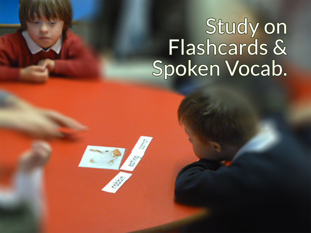 Study onFlashcards &Spoken Vocab.