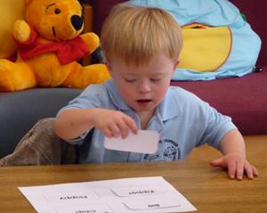 Boy Matching Reading Flashcards